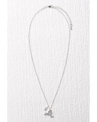 Forever 21 | Metallic Cool And Interesting Ny State Necklace | Lyst