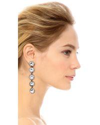 Sam Edelman - Multicolor 5 Stone Linear Earrings - Lyst