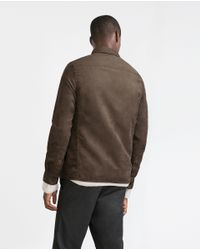 Zara | Natural Faux Suede Overshirt for Men | Lyst