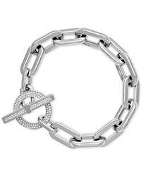 Michael Kors | Metallic Silver-tone Large Link Bracelet | Lyst