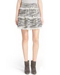 IRO - Gray Fringe Tiered Skirt - Lyst