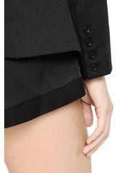 Cameo Black Belted Techno Crepe Jacket