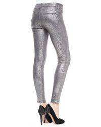 Hudson Jeans Nico Metallic Printed Skinny Pants