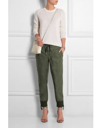 J.Crew - Green Calvary Coated Cotton-Twill Tapered Pants - Lyst