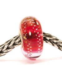 Trollbeads - Pink Silver Trace Glass Charm Bead - Lyst