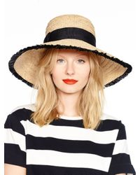 kate spade new york | Black Take A Walk On The Wild Side Fringed Sun Hat | Lyst