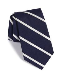 Ike Behar - Blue 'saratoga Stripe' Silk Tie for Men - Lyst