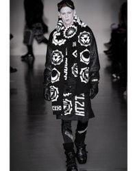KTZ Black Techno Faux Leather Bomber Jacket for men