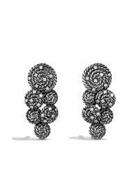 David Yurman - Metallic Cable Coil Cluster Earrings with Diamonds - Lyst