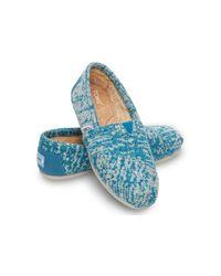TOMS | Blue Batik Tropical Palms Women's Avalon Slip-ons | Lyst