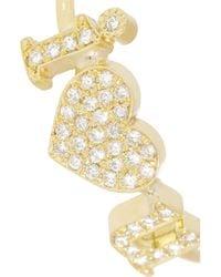 Jennifer Meyer Metallic I Love You 18-Karat Gold Diamond Ring