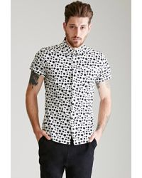 Forever 21 | White Dalmatian Dotted Shirt for Men | Lyst