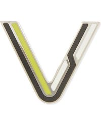 Proenza Schouler | Multicolor Letter V Enamelled Brass Pin - For Women | Lyst