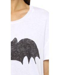 Zoe Karssen | White Bat Tee - Grey Heather | Lyst