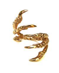 Tessa Metcalfe | Metallic Gold Pigeon Grasp Ring | Lyst