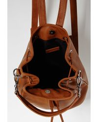 Forever 21 - Brown Drawstring Zippered Backpack - Lyst
