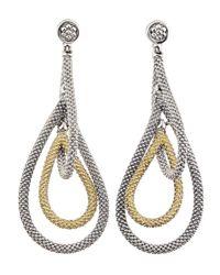 Lagos - Metallic 18k Gold & Sterling Silver Soiree Caviar Tiered Drop Earrings - Lyst