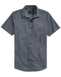 Hurley | Gray Dri-fit Rogan Button-up Shirt for Men | Lyst