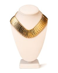 Forever 21 - Metallic Hammered Oval Necklace - Lyst