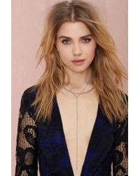 Nasty Gal | Metallic Rhiannon Lariat Necklace | Lyst