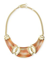 Alexis Bittar | Orange Lucite Interlocking Bib Necklace | Lyst