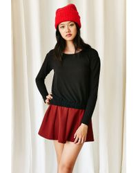 Hiatus - Black Gigi Gathered Hem Sweater - Lyst