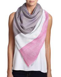 Gucci | Pink Brushstroke Cotton & Silk Shawl | Lyst