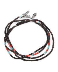 M Cohen | Black Thin Beaded Necklace for Men | Lyst