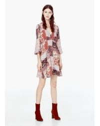 Mango | Red Flowy Printed Dress | Lyst