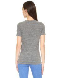 Rodarte - Gray Rohearte Embroidered T-shirt - Lyst