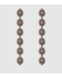 Gucci | Gray Earrings With Swarovski Crystals | Lyst