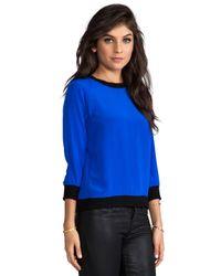 Sjobeck - Calamigos Silk Pullover in Blue - Lyst