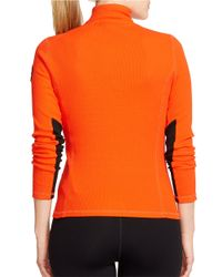Lauren by Ralph Lauren | Orange Plus Waffle-knit Mockneck Pullover | Lyst