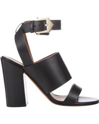 Givenchy - Black Double-Band Sara Sandals - Lyst