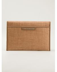 Marc By Marc Jacobs Brown French Bulldog Clutch