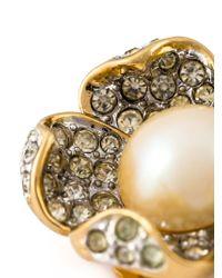Nina Ricci | Metallic Floral Clip-on Earrings | Lyst