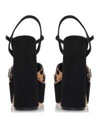 Miss Kg Brown Essence Embellished Platform Sandals