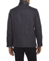 Cole Haan - Gray Signature Wool-Blend Jacket for Men - Lyst