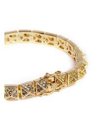 Eddie Borgo | Metallic Small Pavé Pyramid Bracelet | Lyst