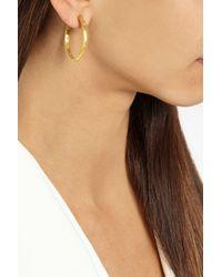 Yossi Harari - Metallic 24-Karat Gold Diamond Hoop Earrings - Lyst