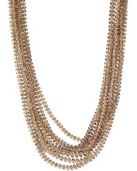Armani | Metallic Long Beaded Necklace | Lyst