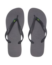 Havaianas - Gray All Over One Colour Brazil Flip Flop for Men - Lyst