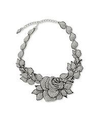 Kenneth Jay Lane - Metallic Rose Necklace - Lyst
