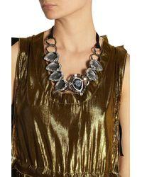 Lanvin - Black Cassiopee Gunmetal-tone Crystal Necklace - Lyst