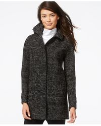 Jones New York | Gray Hooded Coat | Lyst