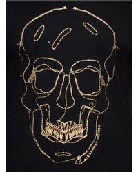 Alexander McQueen Black Zip Skull Jersey T-shirt for men