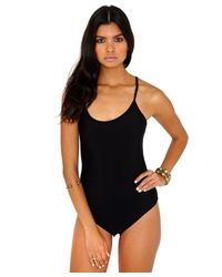 Missguided - Macrina Cross Back Disco Bodysuit In Black - Lyst