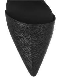 Alexander Wang Black Lovisa Stingray-effect Leather Pumps