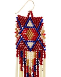 Jacquie Aiche Red + Bead And Porcupine Earrings