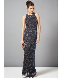 Phase Eight Blue Paola Sequin Maxi Dress